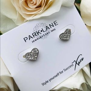 Crystal Pavé Studded Heart Earrings PL Dainty